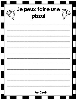 How to make a pizza/ Comment faire une pizza! Procedural Writing