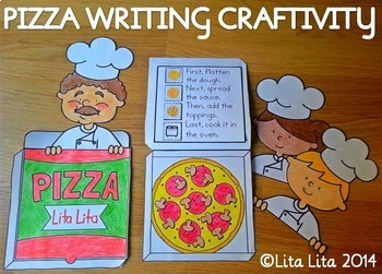 How to make a pizza writing craftivity