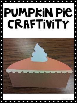 How to make a pumpkin pie  craftivity