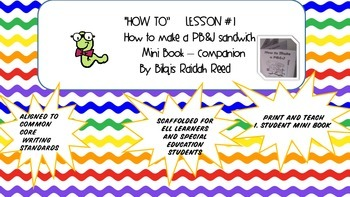 *** part 2 mini book ***How to make a sandwich