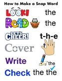 How to make a snap word TC reading workshop ELL support.