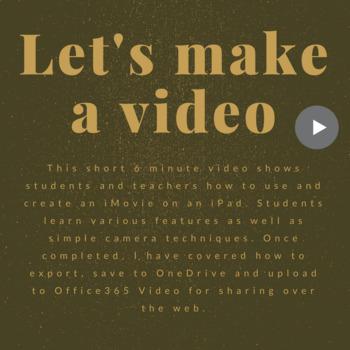 How to make an iMovie on an iPad