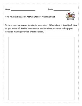 """How to make an ice cream sundae - """"How To"""" Writing Assignment"""