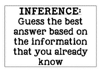 How to make an inference