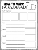 How to make fairy bread procedure writing worksheet