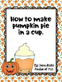 How to make pumpkin pie in a cup (visuals)