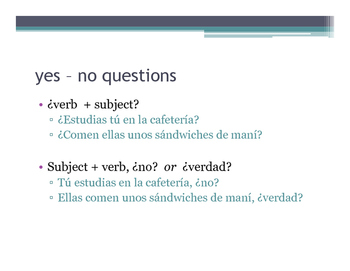 How to make questions in Spanish