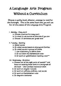 How to make your own Language Arts Program