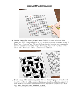 How to make your own crossword puzzle instructions.
