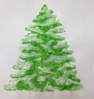 How-to paint Winter Christmas Trees
