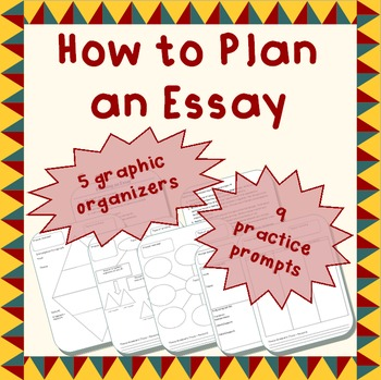 How to plan an essay - notes, graphic organizers, & prompts