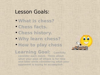 How to play Chess and Why you should Play.  Lesson for students.