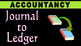 How to post in LEDGER from JOURNAL | Accountancy