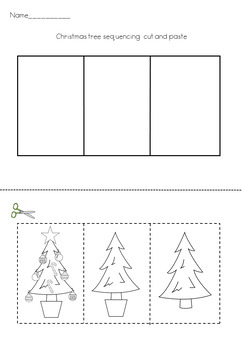How To Put Up A Christmas Tree 3 Step Sequencing Activity