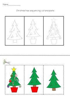 how to put up a christmas tree 3 step sequencing activity - How To Put Up A Christmas Tree