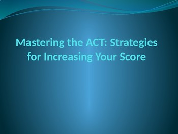 How to raise your ACT score 2-5 points OVERNIGHT!
