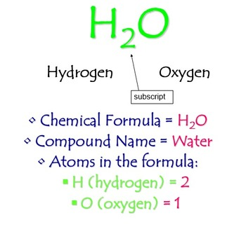 How to read chemical formulas (PowerPoint and Note Sheet)