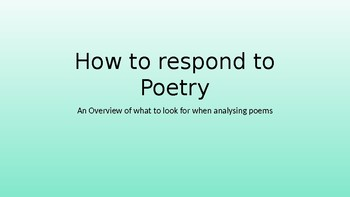 How to respond to poetry powerpoint