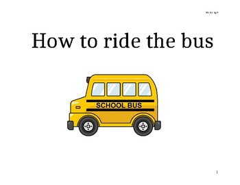 How to ride the bus Social Story