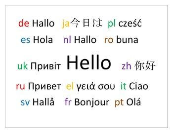 "How to pronounce English ""Hello"" in 14 different languages"