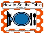 How to set the Table- An adapted book for Autism