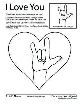 How to sign I Love You in ASL, sign language & Free Book