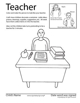 How to sign Teacher in ASL, Sign language