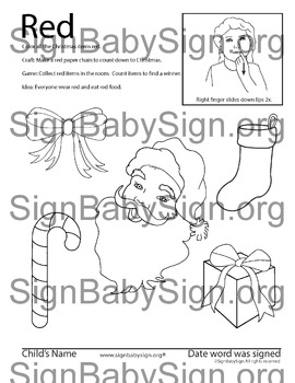 how to sign color red asl christmas free weekly - Asl Christmas