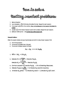 How to solve Limiting Reactant Problems