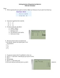 How to solve Systems of Equations with Matrices in the Calculator