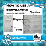 How to use a protractor interactive notebook math foldable