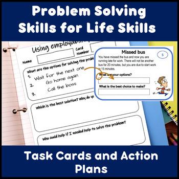 Employability skills Task Cards: Solve workplace problems for ESL and Lifeskills