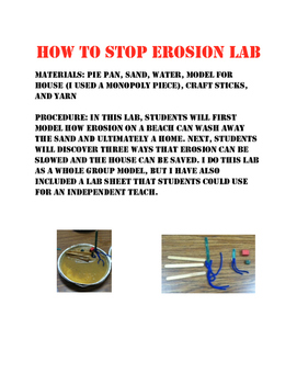 How to stop erosion lab
