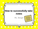 How to successfully take notes PPT