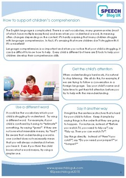 How to support children's comprehension