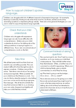 How to support children's spoken language