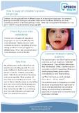 How to support children's spoken language