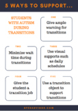 How to support students with autism during classroom trans