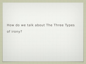 How to talk about the three kinds of irony