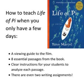 How to teach Life of Pi when you only have a few days