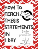 How to teach a thesis statement in 1 day - Argument Writin