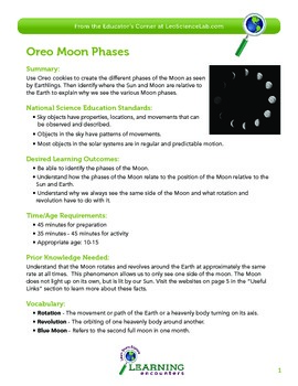 How to teach the moon phases with oreos