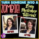 Distance Learning Zombie Photoshop tutorial graphic design
