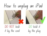 How to unplug an iPad