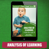 Analysis of Learning &Observations-for Childcare, PreK, Family Childcare, EYLF