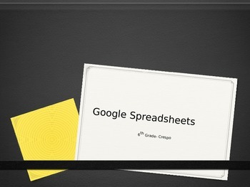 How to use Google Spreadsheets and create a graph!