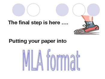 How to use MLA PowerPoint Presentation