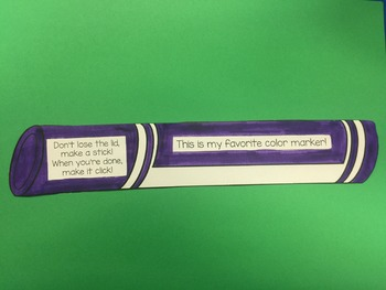 How to use Markers! Favorite Color Marker Pre Kindergarten
