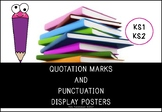 Quotation Marks and Punctuation Rules Display