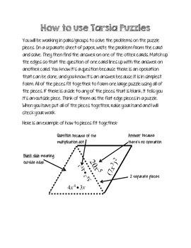 How to use Tarsia Puzzles